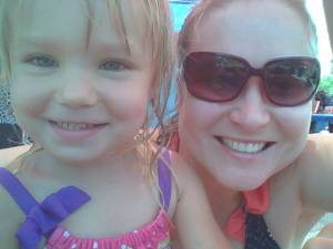 My niece and I at Discovery Island, 2014.